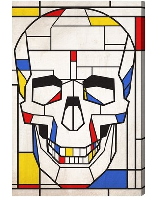 """'Oliver Gal Skull No. 1' Graphic Art Print on Canvas Oliver Gal Size: 30"""" H x 20"""" W x 1.5"""" D"""