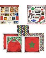 Scrapbook Customs Themed Paper & Stickers Scrapbook Kit, Morocco Sightseeing