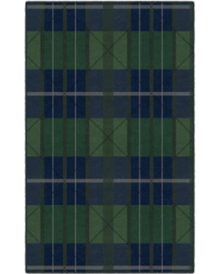 Brumlow Mills Green & Blue Traditional Plaid Rug, Med Green
