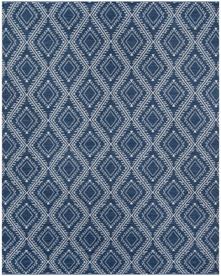 Erin Gates by Momeni Pleasant Navy (Blue) 7 ft. 6 in. x 9 ft. 6 in. Indoor/Outdoor Area Rug