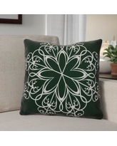 "The Holiday Aisle Decorative Holiday Print Throw Pillow HLDY1531 Size: 20"" H x 20"" W, Color: Dark Green"