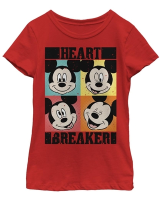 Disney Mickey Mouse Heart Youth Girls T-Shirt