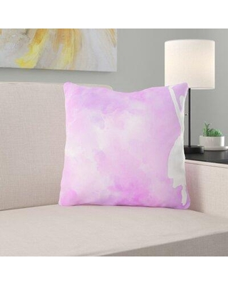 Ebern Designs Pullen Silhouette Woman Throw Pillow W001293813 Cover Material: Microsuede Location: Indoor