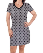 Touched by Nature Womens Organic Cotton Dress, Gray Black Dot, Large