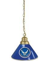 Holland Bar Stool U.S. Armed Forces 1-Light Mini Pendant BL1Army Finish: Brass, Shade Color: Blue, Branch: U.S. Air Force