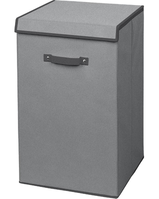 Arm and Hammer Gray Non Woven Collapsible Laundry Hamper