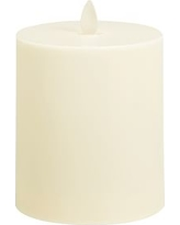 """Premium Flickering Flameless Wax Candle, 4 x 4.5"""", Ivory"""