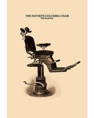 Buyenlarge 'The Favorite Columbia Chair: with Head-Rest' by H. D. Justi & Son Graphic art 0-587-06991-0