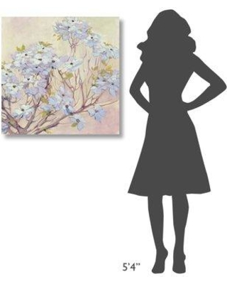 "East Urban Home 'Spring Dogwood II' Print on Wrapped Canvas EUNM5804 Size: 30"" H x 30"" W"