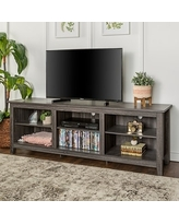 Copper Grove Beaverhead Charcoal 70-inch TV Stand Console (Charcoal)