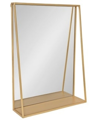 Kate and Laurel Lintz Metal Framed Mirror with Shelf