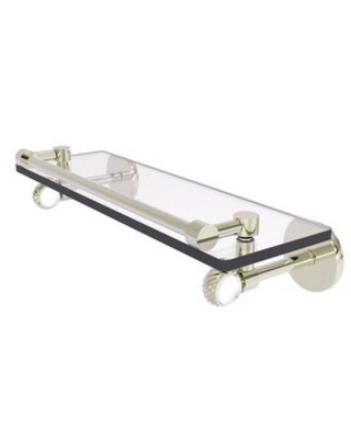 Allied Brass Clearview Collection Gallery Rail Glass Shelf with Twisted Accents (Polished Nickel - 16 Inch)