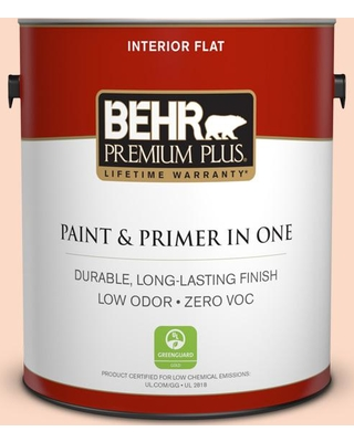 Sales For Behr Premium Plus 1 Gal 250c 2 Sugared Peach Flat Low Odor Interior Paint And Primer In One