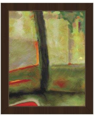 """Click Wall Art 'Ju' Framed Painting Print ABS0012081FRA Size: 16.5"""" H x 13.5"""" W Format: Espresso Framed"""