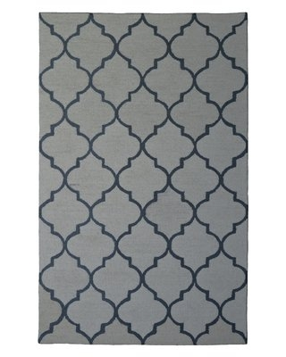 Wool Hand-Tufted Ivory/Gray Area Rug Eastern Weavers Rug Size: 5' x 8'