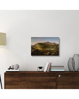 "East Urban Home 'A View of the Two Lakes and Mountain House Catskill Mountains Morning 1844' Graphic Art Print on Wrapped Canvas ERNI8053 Size: 19.8"" H x 30"" W x 1.5"" D"