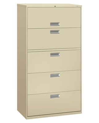 Brigade 600 Series 5-Drawer Lateral Filing Cabinet HON Finish: Putty