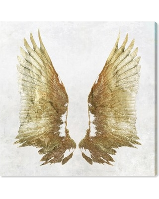 Oliver Gal Golden Wings Light Canvas Wall Art, Size 36x36 - White
