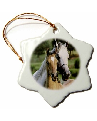 Mother and Baby Horse Holiday Shaped Ornament The Holiday Aisle®