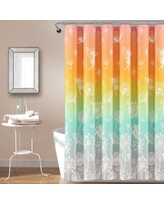 Make A Wish Dandelion Fairy Ombre Shower Curtain Pastel Rainbow Single 72X72