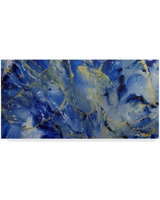"""Trademark Art 'Ride the Wave' Acrylic Painting Print on Wrapped Canvas ALI37658-CGG Size: 16"""" H x 32"""" W x 2"""" D"""