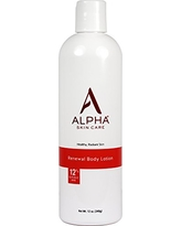 Alpha Skin Care - Renewal Body Lotion, 12% Glycolic AHA, Supports Healthy Radiant Skin  Fragrance-Free and Paraben-Free  12-Ounce