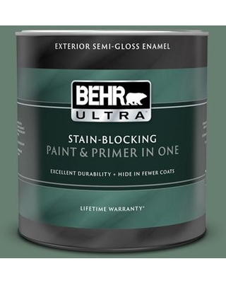 BEHR ULTRA 1 qt. #460F-5 Island Palm Semi-Gloss Enamel Exterior Paint and Primer in One