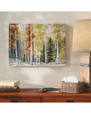 """Millwood Pines 'Angel Fire Aspens' Acrylic Painting Print on Wrapped Canvas MLWP4951 Size: 24"""" H x 32"""" W x 2"""" D"""