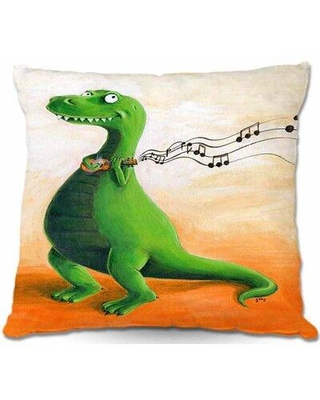 """East Urban Home Couch Strum Dinosaur Throw Pillow W000126003 Size: 16"""" x 16"""""""