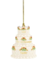 Lenox 1st Christmas Together Cake Ornament 858743