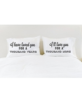 A Thousand Years Christina Perri Song Couples Pillowcases Romantic Pillow Cases Anniversary Gift Cotton Anniversary Gift Wedding Gift