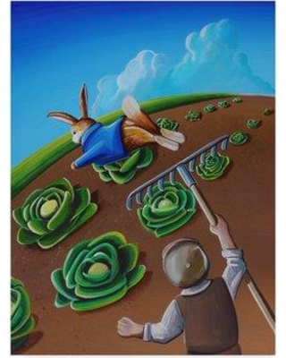 "Winston Porter 'Peter Rabbit 5' Acrylic Painting Print on Wrapped Canvas WNPO1881 Size: 32"" H x 24"" W x 2"" D"