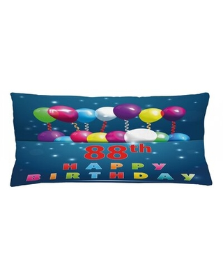 """88Th Birthday Indoor / Outdoor Lumbar Pillow Cover East Urban Home Size: 16"""" x 36"""""""