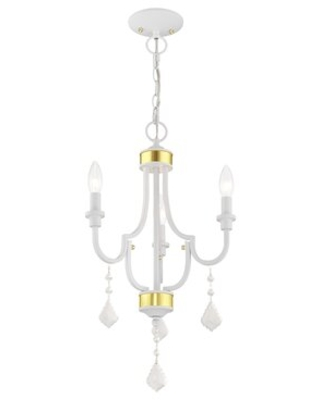 Dorris 3 - Light Candle Style Classic / Traditional Chandelier with Crystal Accents