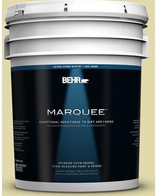 BEHR MARQUEE 5 gal. #400C-3 Dried Palm Satin Enamel Exterior Paint and Primer in One