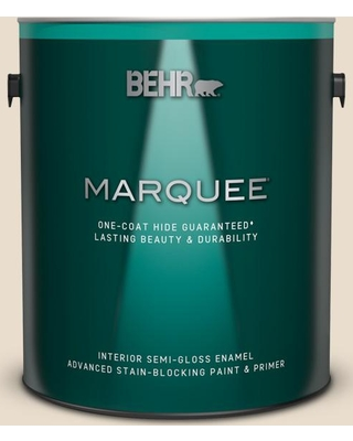 BEHR MARQUEE 1 gal. #YL-W12 Antique White Semi-Gloss Enamel Interior Paint and Primer in One