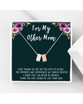 Anavia Step Mom Gift, Gift for Other Mom, Cube Necklace Jewelry Gift, Mothers Day Gift, Birthday Gift for Her,Two Cube Necklaces with Wish Card [1 Silver & 1 Rose Gold]