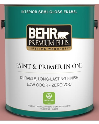 BEHR PREMIUM PLUS 1 gal. #S150-4 Red Clover Semi-Gloss Enamel Low Odor Interior Paint and Primer in One