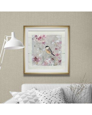 """Gracie Oaks 'Sitting Pretty Shiplap II' Oil Painting Print on Wrapped Canvas GRCS7764 Size: 38"""" H x 38"""" W x 2"""" D Format: Gold Framed"""