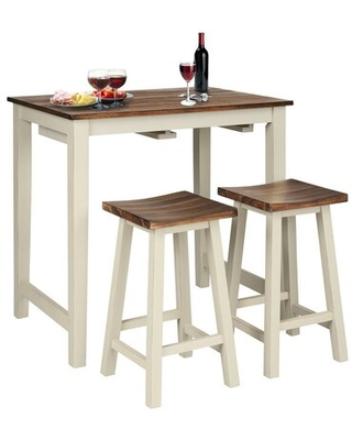 Carisa 3 - Piece Counter Height Dining Set August Grove®