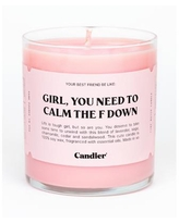 Calm Down Votive Candle, 9 oz - Clear Votive with Pink Wax