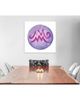 """East Urban Home Illumination of Aquarius Painting Print on Wrapped Canvas ESRB2393 Size: 37"""" H x 37"""" W x 0.75"""" D"""