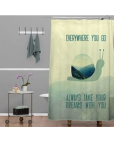 Brayden Studio Ketner Always Take Your Dreams With You Shower Curtain BYST1794