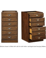 Printer's 3-Drawer File Cabinet, Tuscan Chestnut stain