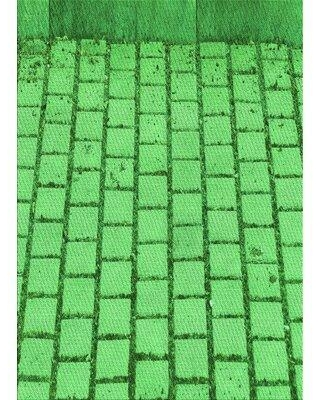 East Urban Home Geometric Wool Green Area Rug W002297187 Rug Size: Rectangle 2' x 3'