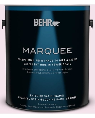 BEHR MARQUEE 1 gal. #690A-1 Zephyr Satin Enamel Exterior Paint and Primer in One