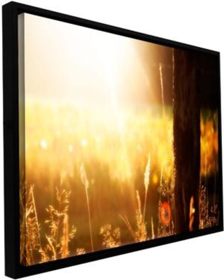 """ArtWall Summertime by Revolver Ocelot Framed Photographic Print on Wrapped Canvas, Canvas & Fabric in Brown/Yellow, Size 12"""" H x 18"""" W 