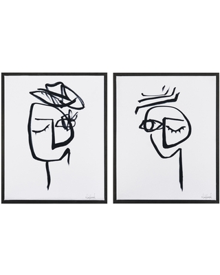 Expressions 4 & 5 By Nikol Wikman Framed Wall Art 2 Piece: Black - Canvas by World Market