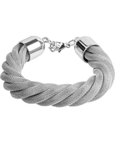 West Coast Jewelry Stainless Steel Twisted Mesh Bracelet, Girl's