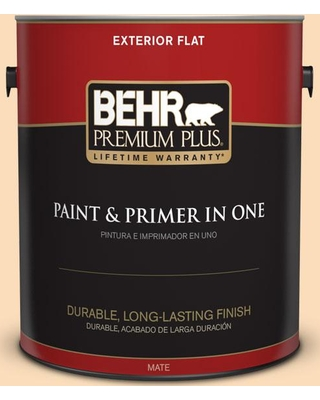 BEHR Premium Plus 1 gal. #M260-3 Time Out Flat Exterior Paint and Primer in One